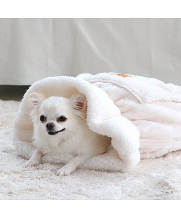 PET PARADISE ペットパラダイス 遠赤外線 編み柄 犬たんぽ白(32×38cm)