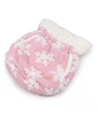 PET PARADISE ペットパラダイス 遠赤外線 雪柄 犬たんぽ (40×48cm) ピンク(淡)