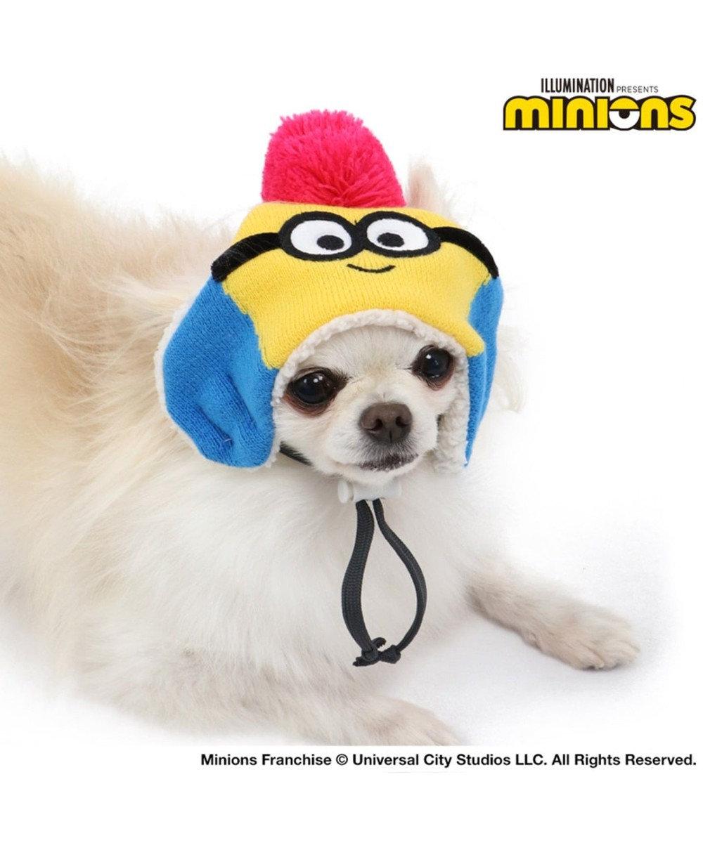 PET PARADISE ミニオン ニット帽子 ボブ4S~3S〔小型犬〕 青