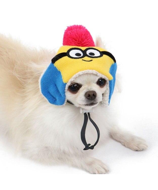 PET PARADISE ミニオン  ニット帽子ボブ SS~S〔小型犬〕