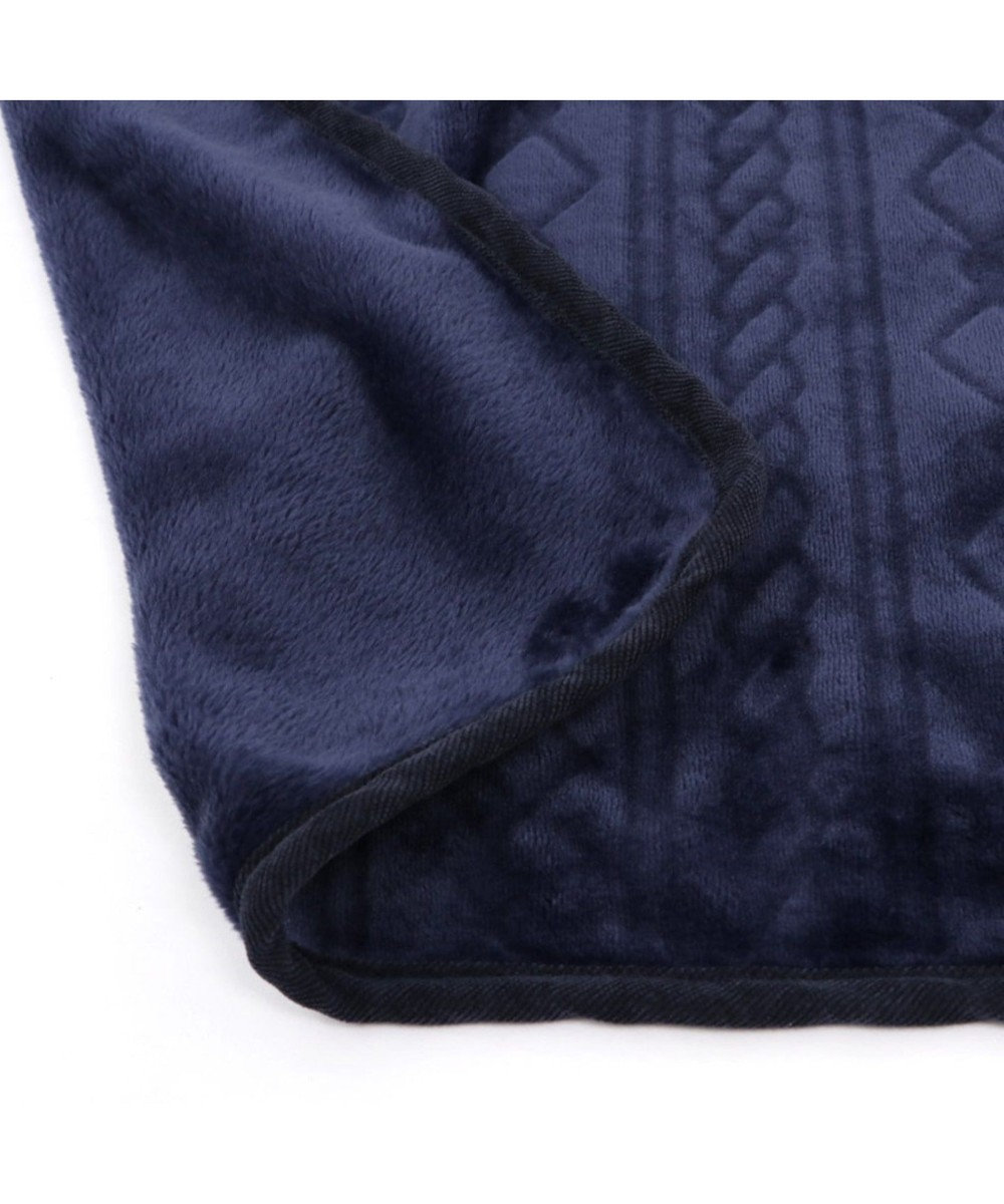 PET PARADISE ペットパラダイス 編み柄 ブランケット 紺(90×60cm) 紺(ネイビー・インディゴ)