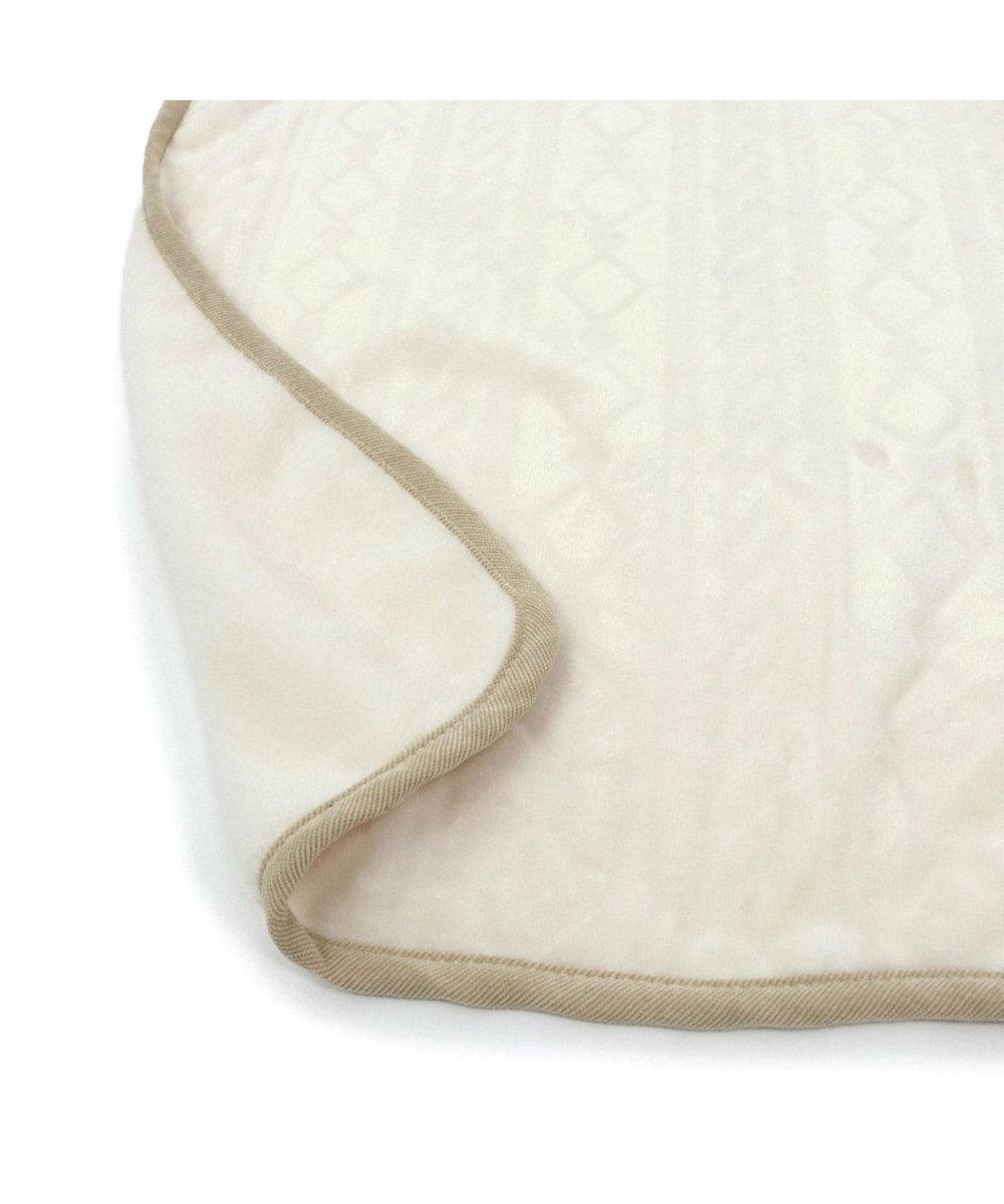 PET PARADISE ペットパラダイス 編み柄 ブランケット 白(90×60cm) 白~オフホワイト