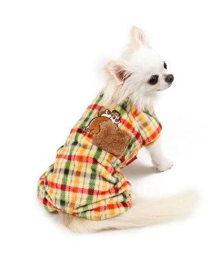 PET PARADISE ディズニー チップとデール チェック ロンパース〔超・小型犬〕 黄
