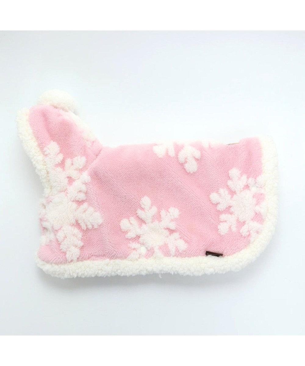 PET PARADISE ペットパラダイス 雪柄 着る毛布 〔超小型・小型犬〕 ピンク(淡)