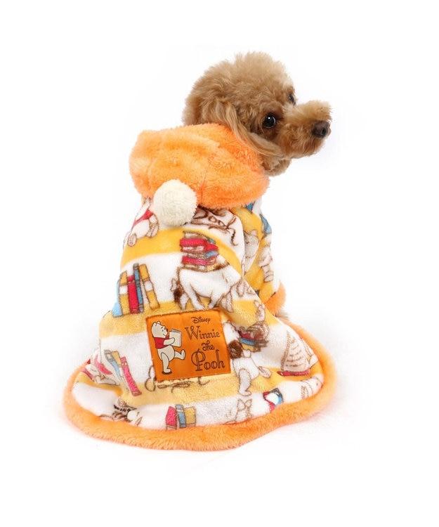 PET PARADISE ディズニー くまのプーさん ブック柄 着る毛布〔超小型・小型犬〕