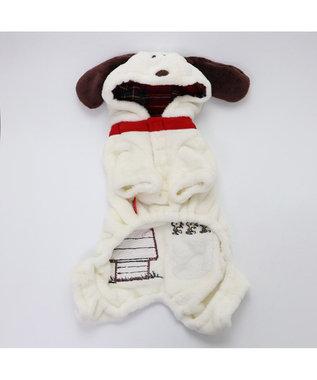 PET PARADISE スヌーピー なりきり ロンパース 〔超小型・小型犬〕 白~オフホワイト