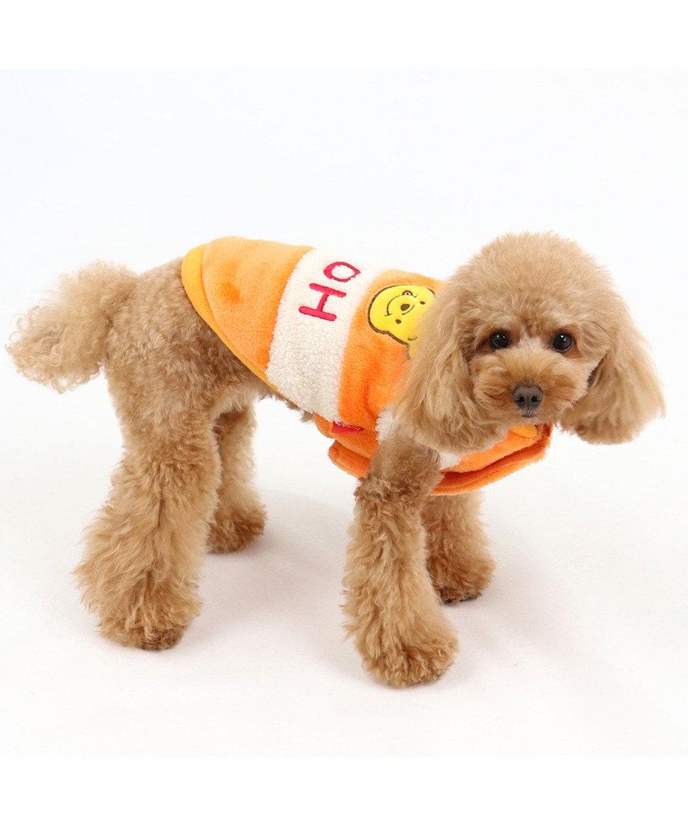 PET PARADISE ディズニー くまのプーさん 遠赤外線 蜂蜜綿入りベスト〔小型犬〕 オレンジ