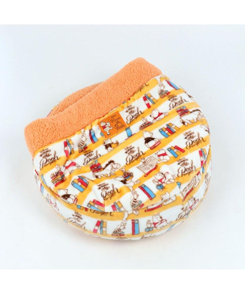 PET PARADISE くまのプーさん 遠赤外線 ブック柄 丸型 寝袋カドラー 黄