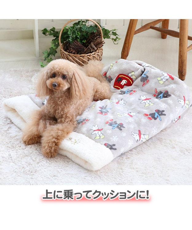 PET PARADISE リサとガスパール 遠赤外線 長ぐつ柄 筒型 寝袋 カドラー