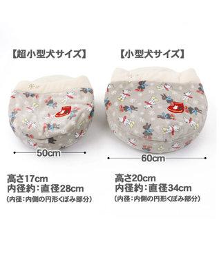 PET PARADISE リサとガスパール 遠赤外線 長ぐつ柄 丸型寝袋カドラー M 60cm グレー
