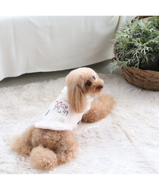 PET PARADISE スヌーピー うさぎ もこふわ トレーナー 〔超小型・小型犬〕 ピンク(淡)