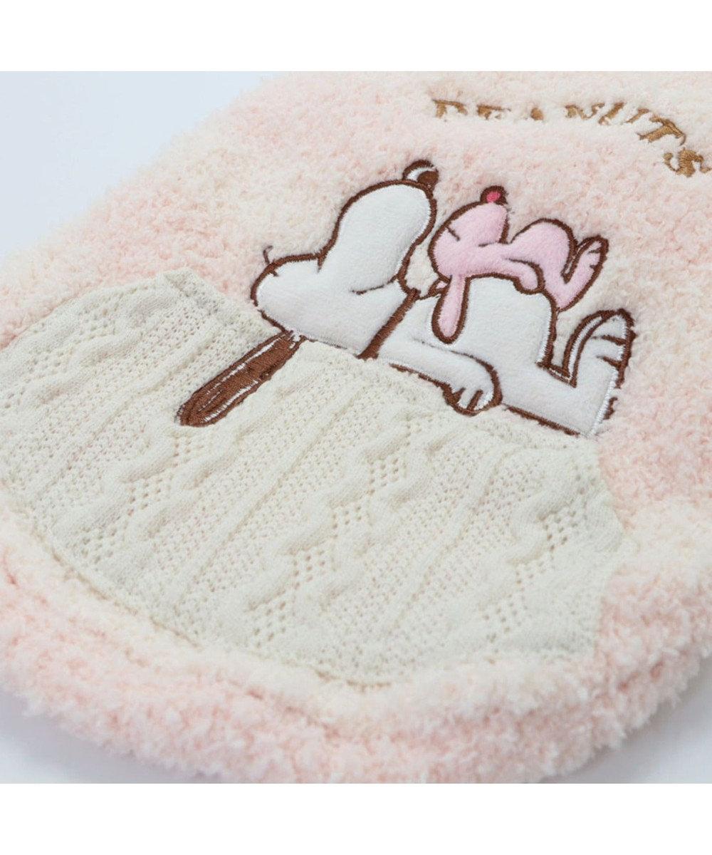 PET PARADISE スヌーピー うさぎ もこふわ トレーナー 〔中型犬〕 ピンク(淡)