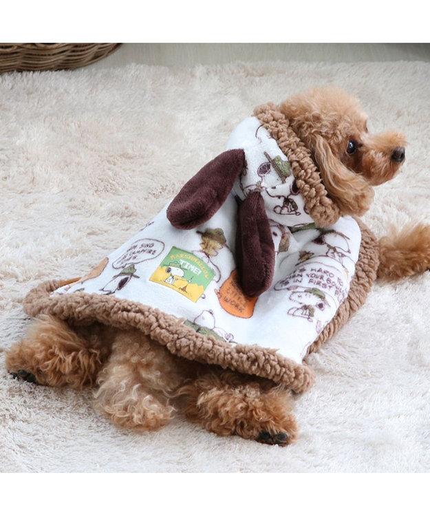 PET PARADISE スヌーピー スカウト柄 着る毛布 〔超小型・小型犬〕 緑