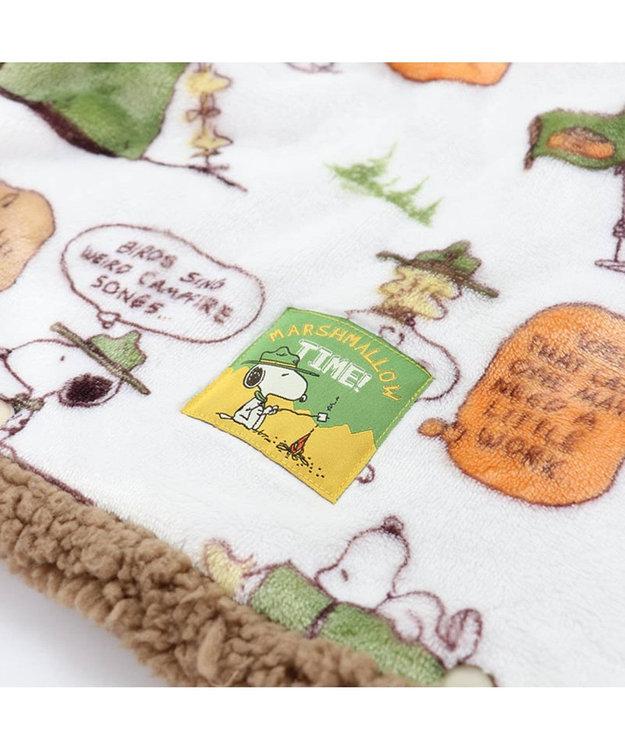PET PARADISE スヌーピー スカウト柄 着る毛布 〔中・大型犬〕 緑