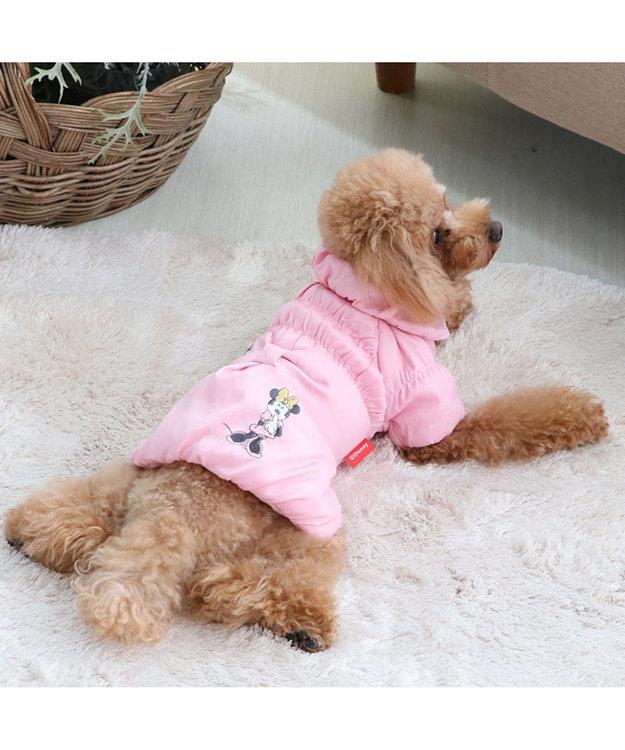 PET PARADISE ディズニー ミニーマウス 遠赤外線 リボン コート〔超・小型犬〕 ピンク(淡)