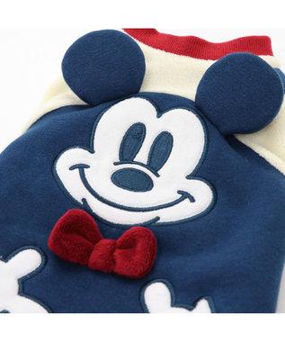 PET PARADISE ディズニー ミッキーマウス フェイス ロンパース 〔超・小型犬〕 紺(ネイビー・インディゴ)