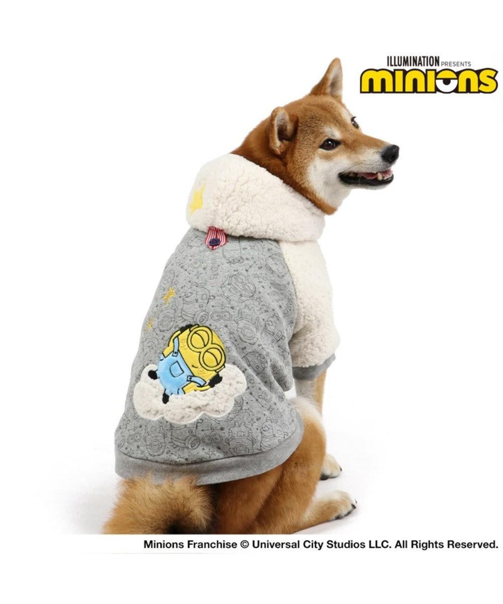 PET PARADISE ミニオン 星座 ダブルフェイスパーカー 〔中型犬〕 ペットSM グレー