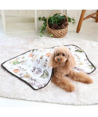 PET PARADISE スヌーピー スカウト柄 ブランケット 毛布 緑