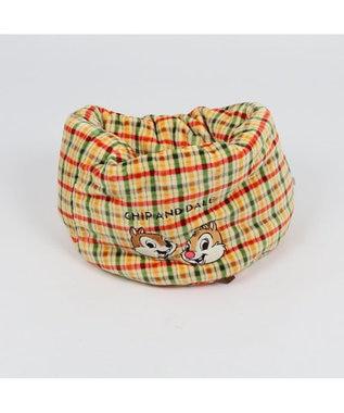 PET PARADISE チップとデール 遠赤外線 チェック柄 筒型寝袋カドラー 42cm 黄