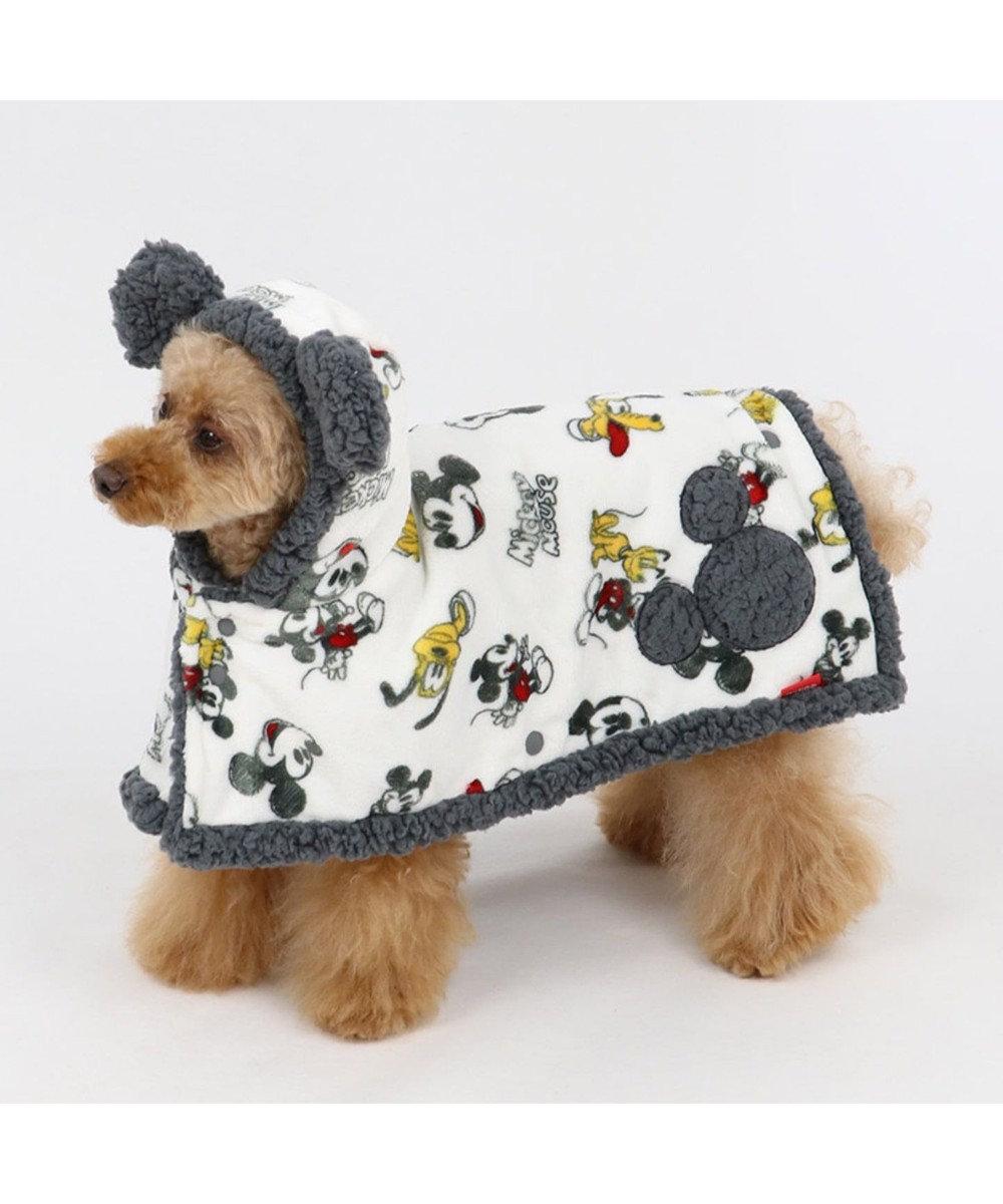 PET PARADISE ディズニー ミッキーマウス 手書き風 着る毛布〔超小型・小型犬〕 白~オフホワイト