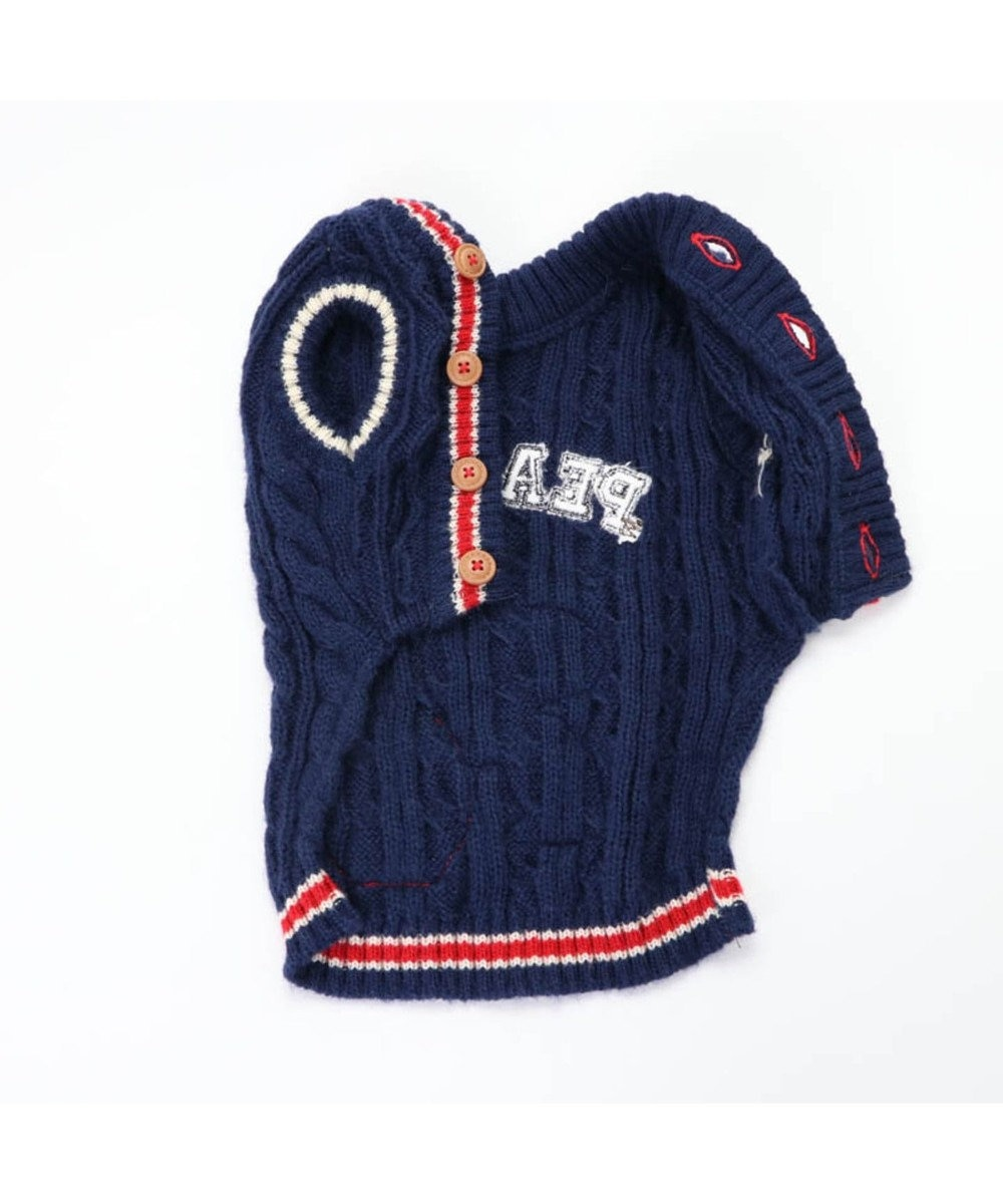 PET PARADISE スヌーピー スクール セーター 紺〔中・大型犬〕 紺(ネイビー・インディゴ)