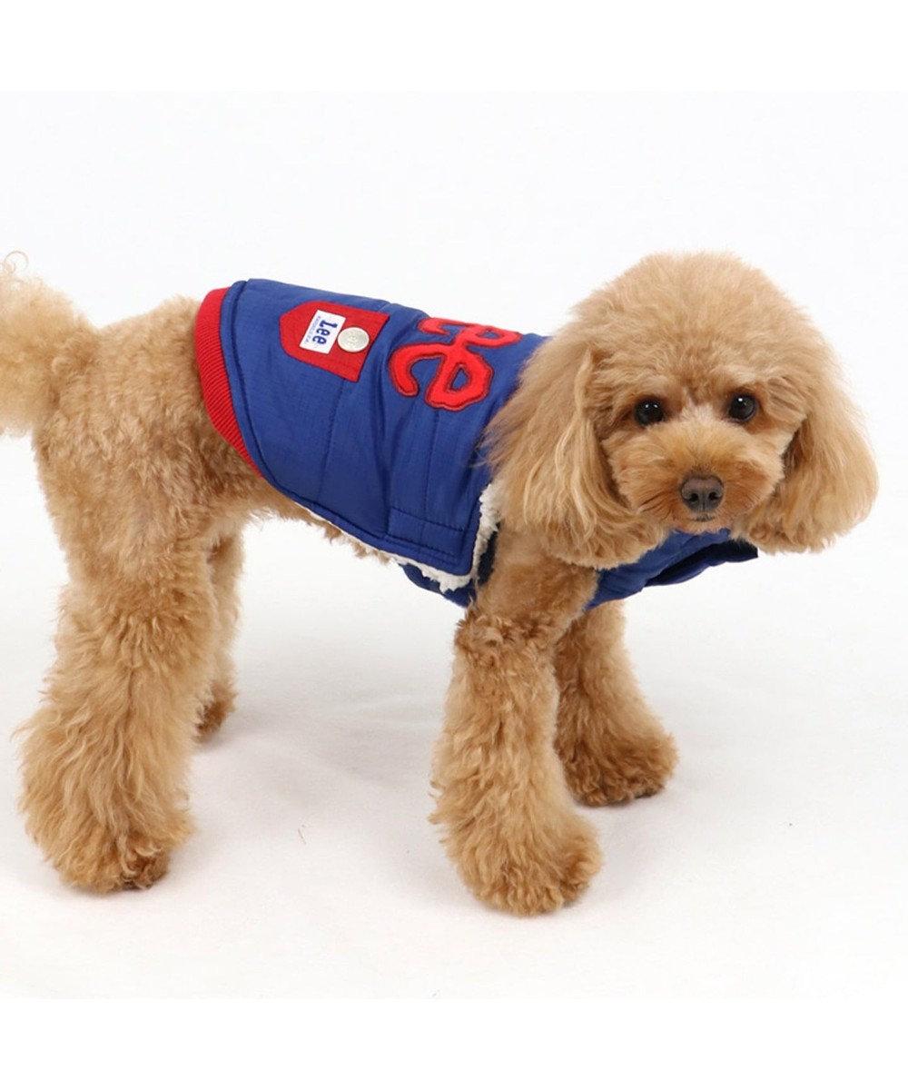 PET PARADISE Lee 綿入り ベスト 紺 〔超小型・小型犬〕 紺(ネイビー・インディゴ)