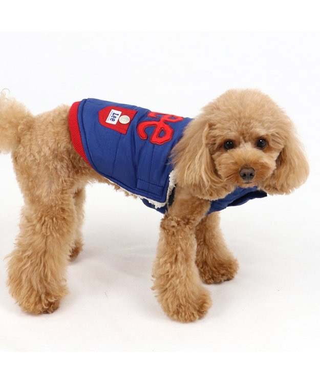 PET PARADISE Lee 綿入り ベスト 紺 〔超小型・小型犬〕