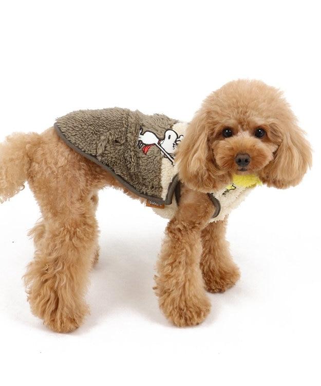 PET PARADISE スヌーピー フライングエース ボア ベスト カーキ 〔超小型・小型犬〕 カーキ