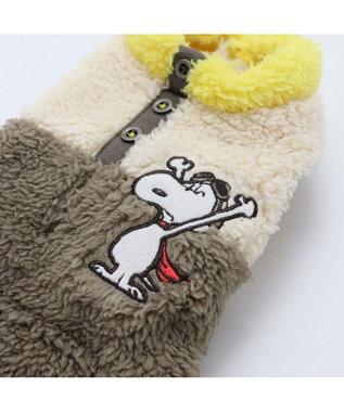 PET PARADISE スヌーピー フライングエース ボア ベスト カーキ 〔中・大型犬〕 カーキ