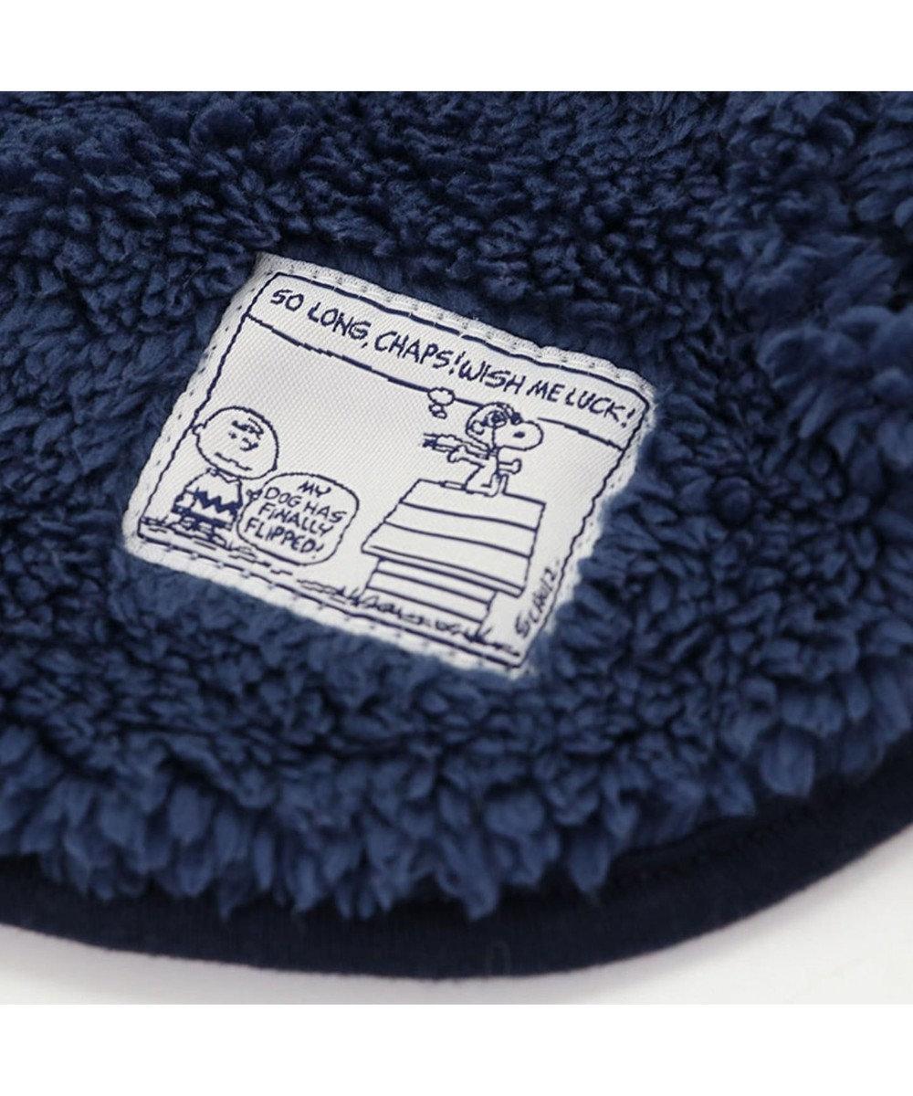 PET PARADISE スヌーピー フライングエース ボア ベスト ネイビー〔超小型・小型犬〕 紺(ネイビー・インディゴ)