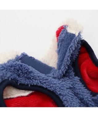 PET PARADISE スヌーピー フライングエース ボア ベスト ネイビー〔中・大型犬〕 紺(ネイビー・インディゴ)