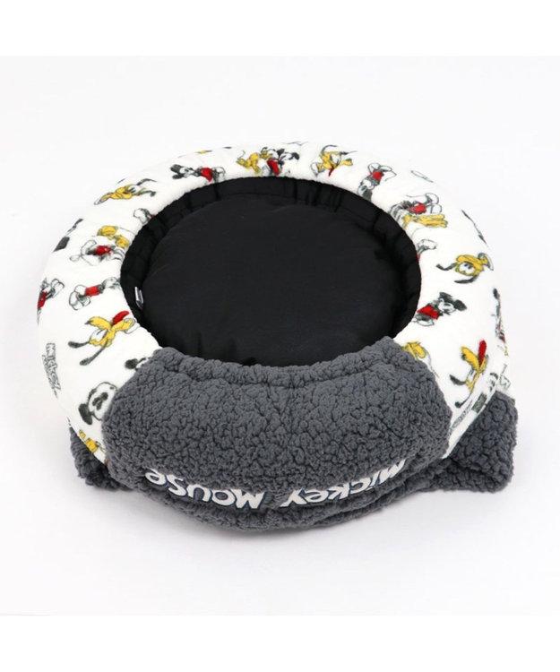 PET PARADISE ミッキーマウス 遠赤外線 手書き風 丸型寝袋カドラー(50cm) 0