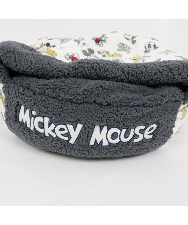 PET PARADISE ミッキーマウス 遠赤外線 手書き風 丸型寝袋カドラー(60cm) 0