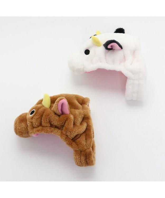 PET PARADISE ペットパラダイス 牛 帽子 白〔中・大型犬〕