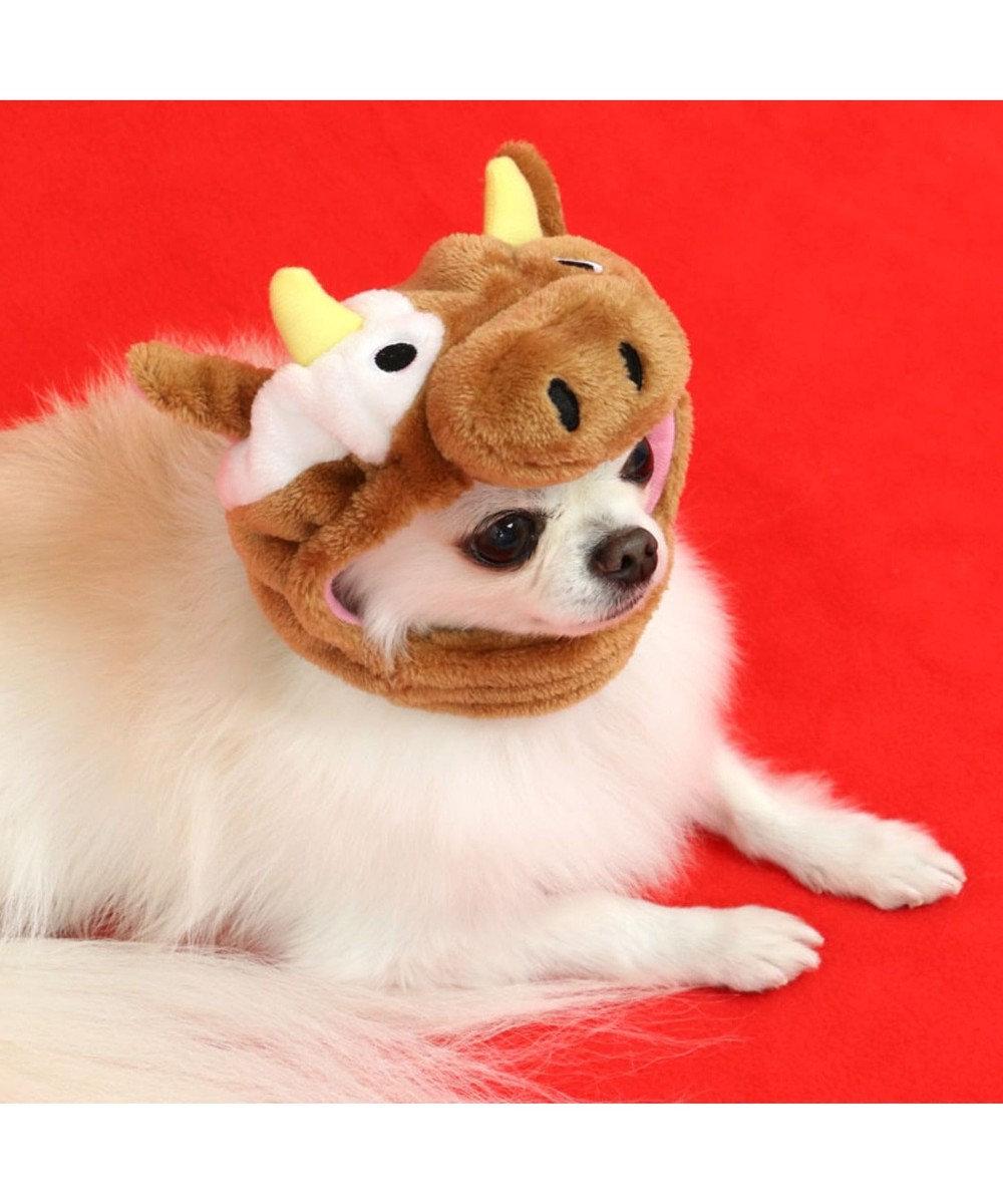 PET PARADISE ペットパラダイス 牛 帽子 茶〔超小型・小型犬〕 茶系