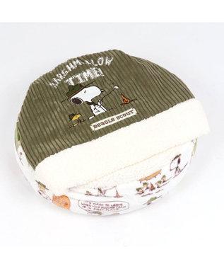 PET PARADISE スヌーピー スカウト柄 丸型 寝袋 S (50cm) 白~オフホワイト