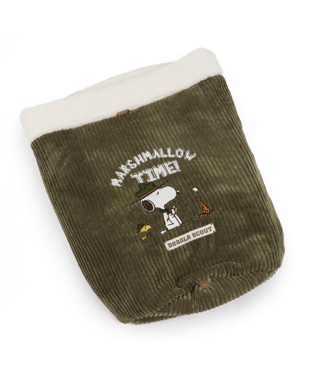 PET PARADISE スヌーピー スカウト柄 筒型 寝袋 M(42×70cm) 白~オフホワイト