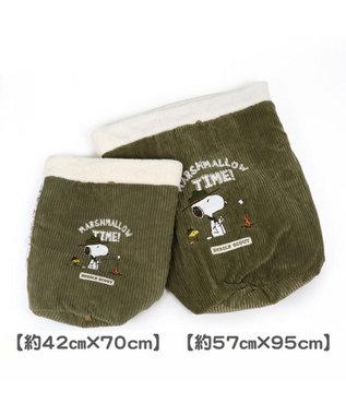 PET PARADISE スヌーピー スカウト柄 筒型 寝袋 L(57×95cm) 白~オフホワイト