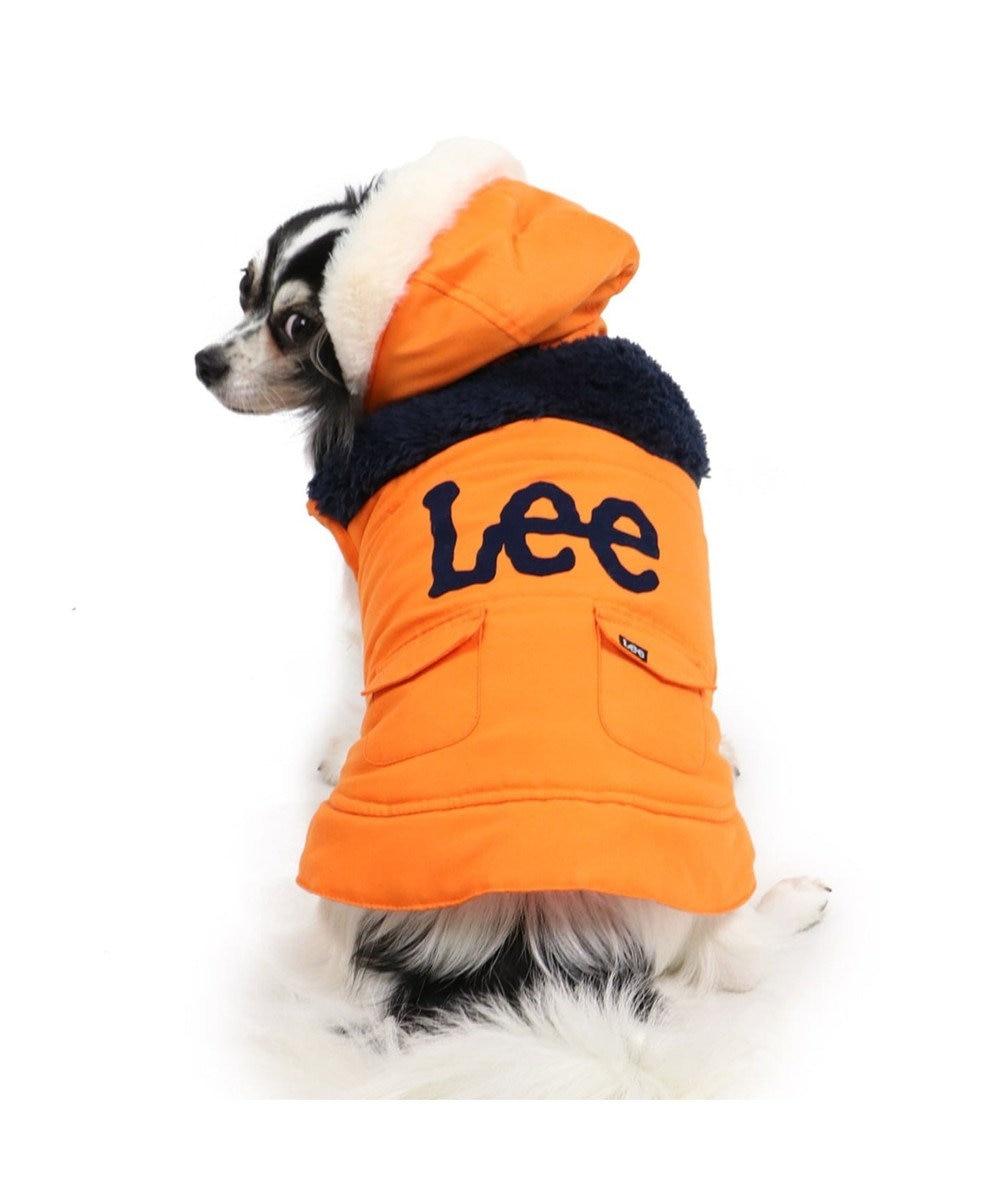 PET PARADISE Lee 切替フード付 綿入り ベスト 〔超小型・小型犬〕 オレンジ
