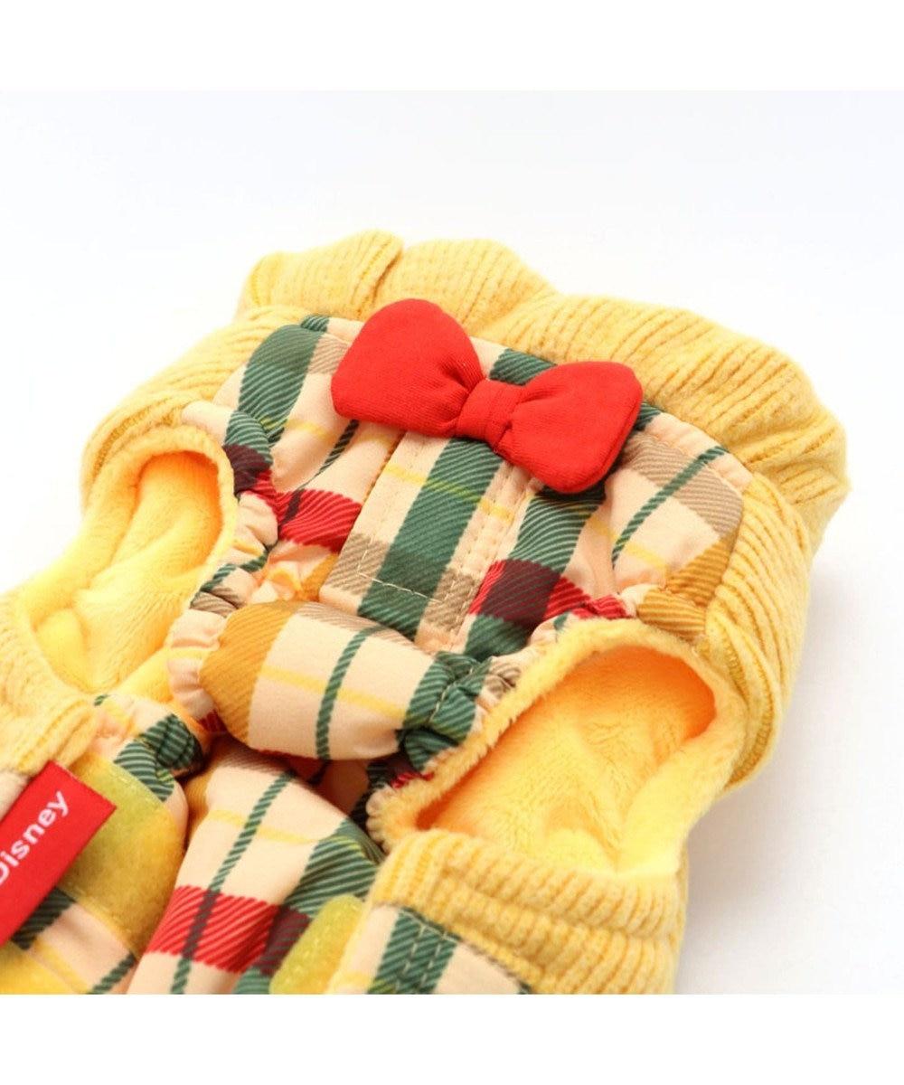 PET PARADISE チップとデール 遠赤外線 チェック 綿入りベスト 〔超・小型犬〕 黄