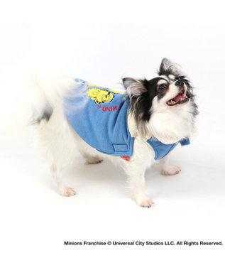 PET PARADISE ミニオン 遠赤外線 切替 綿入り ベスト 〔超小型・小型犬〕 青
