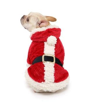 PET PARADISE ペットパラダイス サンタパーカー 〔中・大型犬〕 赤