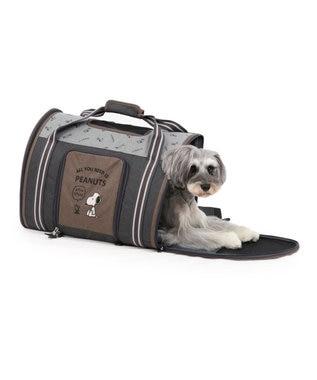 PET PARADISE スヌーピー ブラウン 折畳み キャリーバッグ 〔小型犬〕752-60182 カーキ