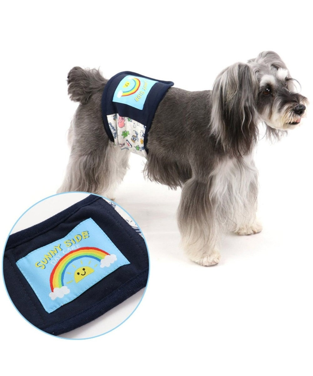 PET PARADISE ディズニー トイ・ストーリー 総柄 マナーベルト〔超・小型犬〕 水色