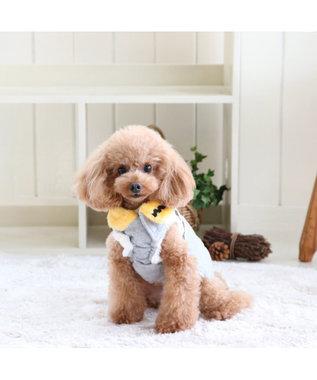 PET PARADISE スヌーピー ほっこりベスト 灰X黄 〔超小型・小型犬〕 黄
