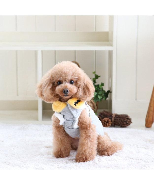 PET PARADISE スヌーピー ほっこりベスト 灰X黄 〔超小型・小型犬〕