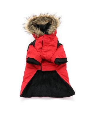 PET PARADISE ペットパラダイス フードジャケット 赤 〔超小型・小型犬〕 赤