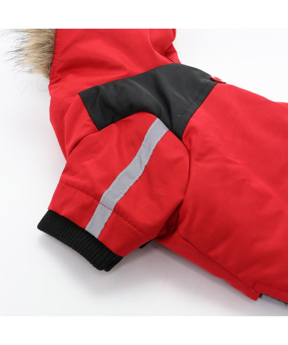 PET PARADISE ペットパラダイス フードジャケット 赤 〔中型犬〕 赤