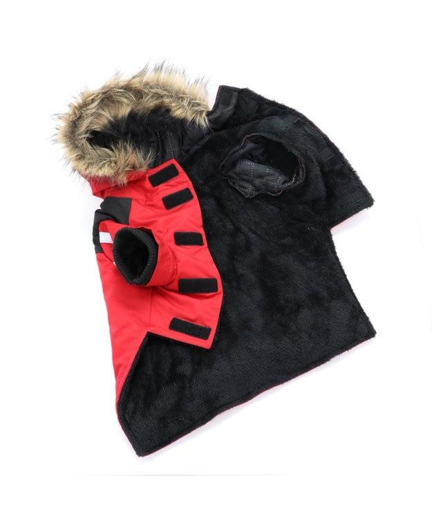 PET PARADISE ペットパラダイス フードジャケット 赤 〔中型犬〕