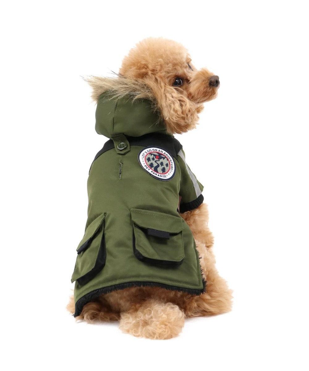 PET PARADISE ペットパラダイス フードジャケット カーキ 〔超小型・小型犬〕 カーキ
